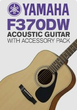 Yamaha F370DW Acoustic Guitar, Natural with Accessory Pack