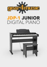 JDP-1 Junior Digital Piano fra Gear4music, Matt svart