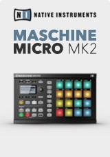 Native Instruments Maschine Mikro MK2, Svart