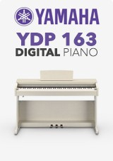 Yamaha YDP 163 Digitalt Piano, White Ash