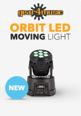ORBIT 70W LED Moving Head Lys fra Gear4music